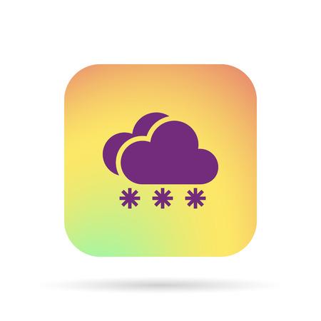 meteo: snow cloud meteo icon