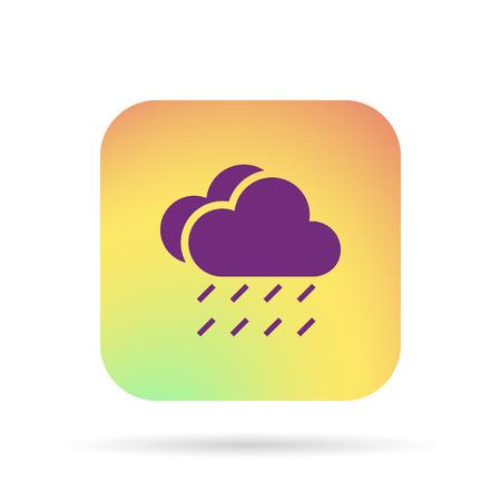 meteo: rain cloud sun meteo icon