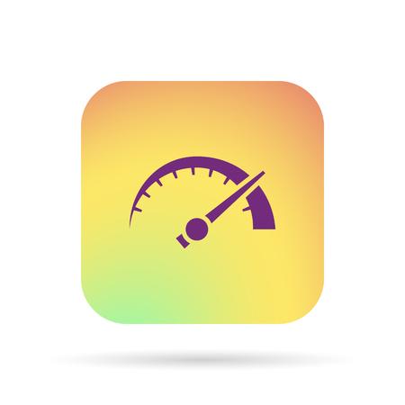 tachometer sign, speedometer symbol, rpm icon Çizim