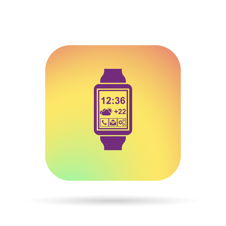 chronograph: smart watch, fitness taime icon Illustration
