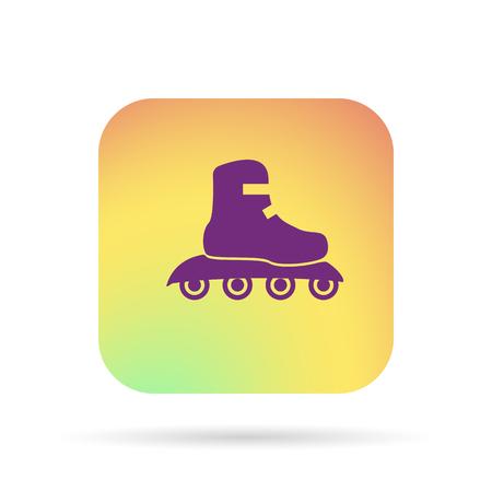 rollerblades: Roller skate icon