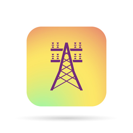 powerlines: electric lines icon Illustration