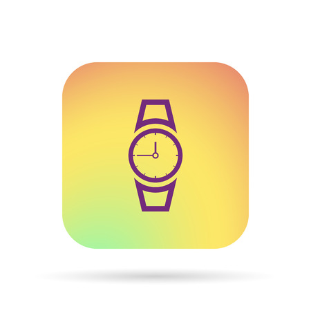 timekeeper: hand clock icon Illustration