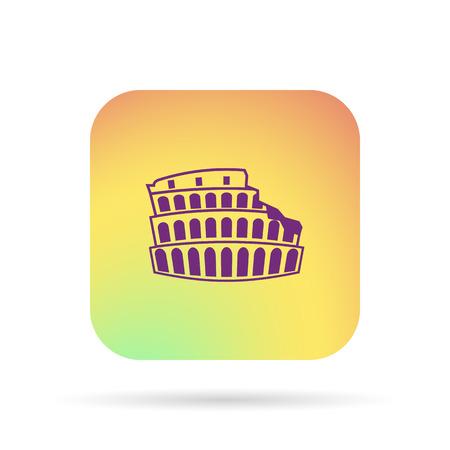 colosseum icon Stock Illustratie