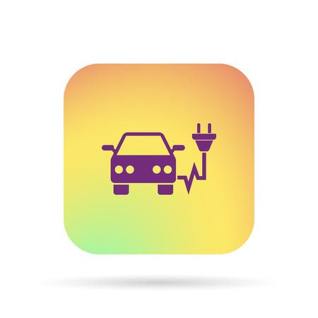 electro car icon Illustration
