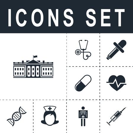 district of columbia: white house washington dc icon Illustration