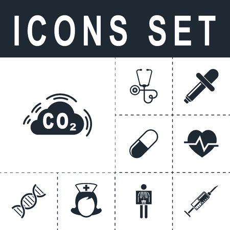 CO2 icon. Illustration