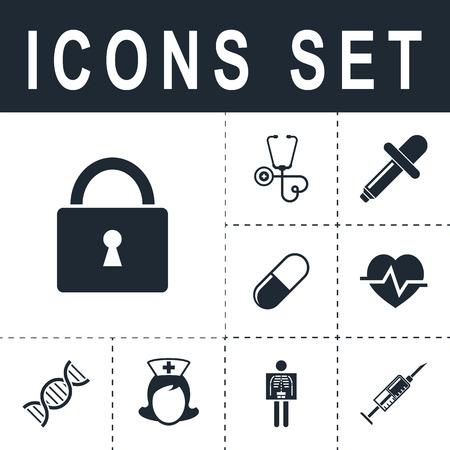 lock icon Vektoros illusztráció