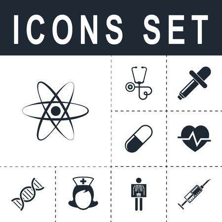 radioactive sign: atom icon Illustration