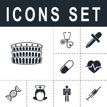 colosseum icon Ilustrace