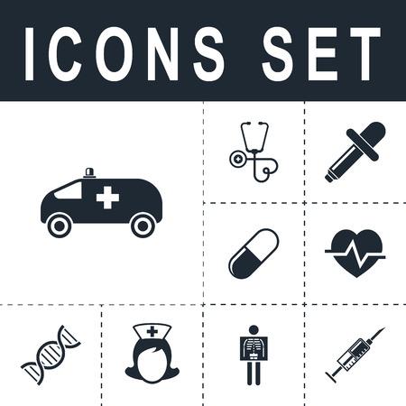 Ambulance car icon.