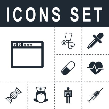 monitor: Browser icon Illustration