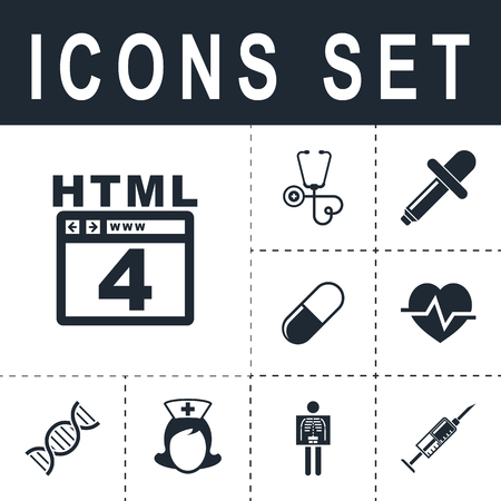 web browser: HTML 4 icon Illustration