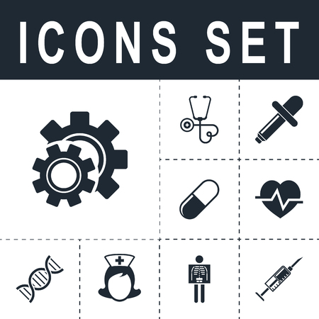 gears: Cog settings icon Illustration