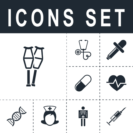 Crutch icon. Illustration