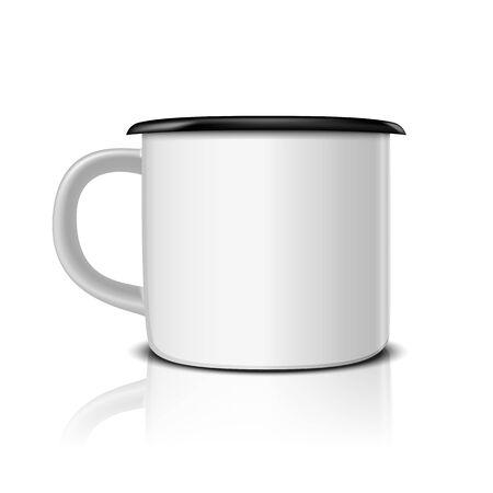 iron cup mockup vector illustration
