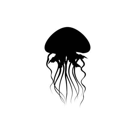 jellyfish icon vector logo Logos