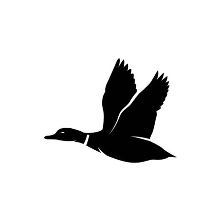 duck icon vector illustration. hunting logo