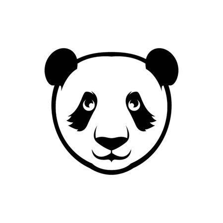 vector panda bear head Иллюстрация