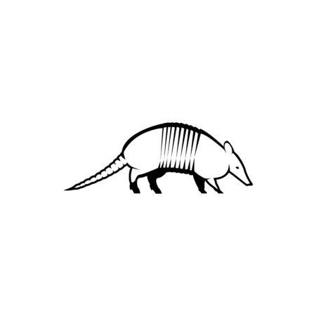 vector armadillo silhouette