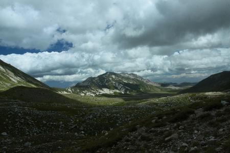 plateau: Gran Sasso plateau Stock Photo