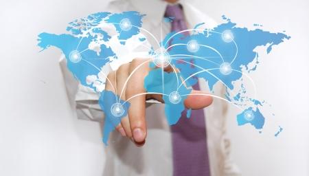 global map: touchscreen