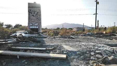 California Ghost Town Ruins Stockfoto