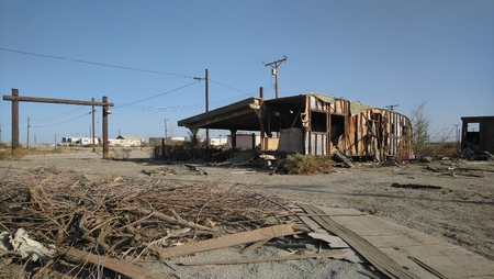 Desert Ruined Buildings Stok Fotoğraf