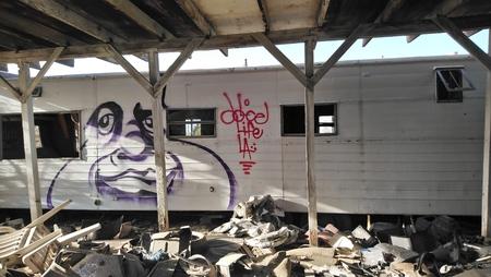 Ruined Beach Town Graffiti