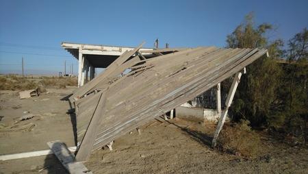 Collapsed Desert Building
