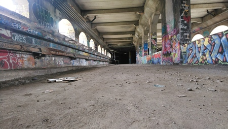 Rochester Broad Street Viaduct Stockfoto