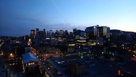 Montreal Skyline Night Stockfoto