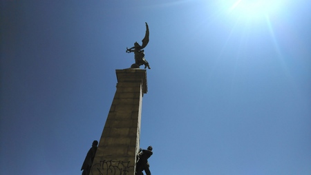Montreal Statue with Sky Stockfoto