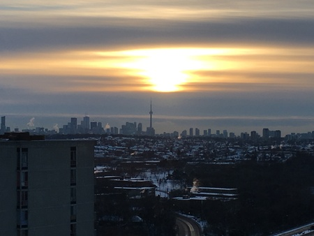 Toronto Skyline Cloudy