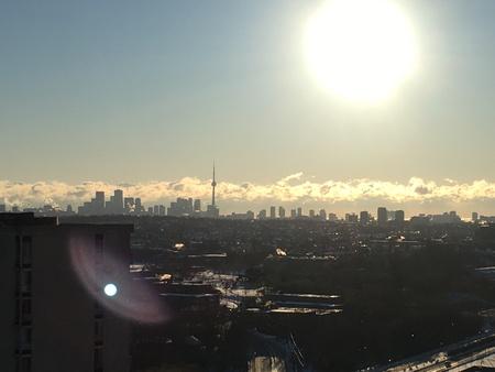 Toronto Skyline Morning Stockfoto