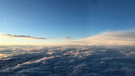 Clouds out Plane Window