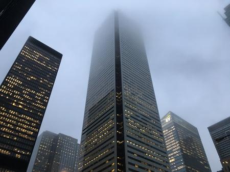 Foggy Toronto Towers