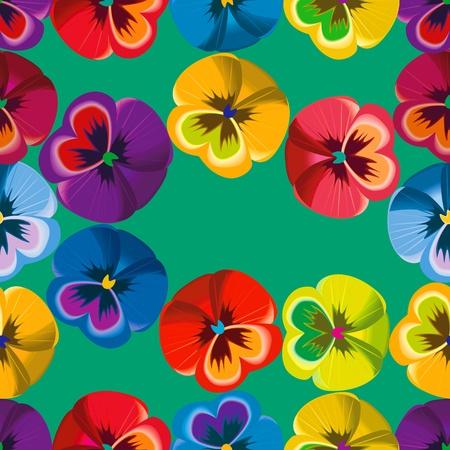 Seamless pattern violet flowers.