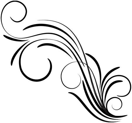 Ornament floral design, EPS8 - vector graphics