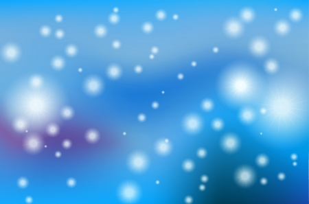 Stars and patches of light, blue background