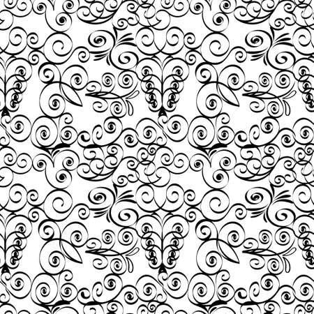 Vector illustration of a grille black and white seamless pattern. Ilustrace