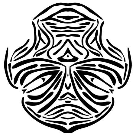 Vector illustration of a abstract African mask. Ilustrace