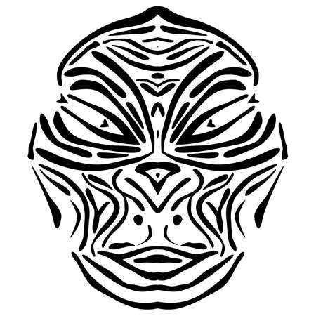 Vector illustration of a abstract lurid African mask. Ilustrace
