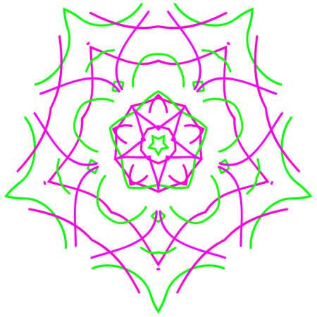 Circle ornament design element, vector graphics.