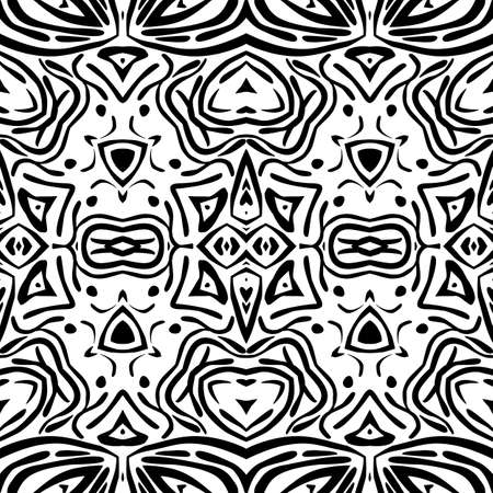 Abstract ornament seamless pattern for background