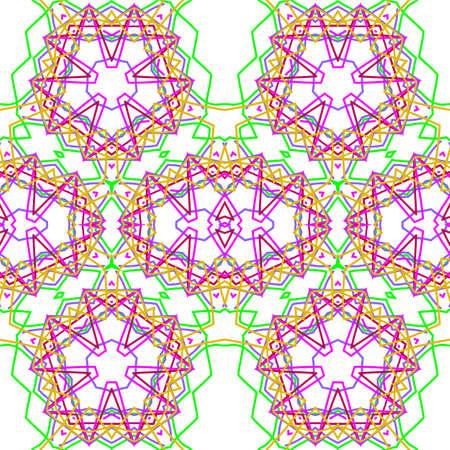 Abstract kaleidoscopic seamless background