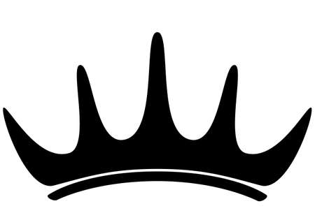 Vector illustration of crown outline drawing.