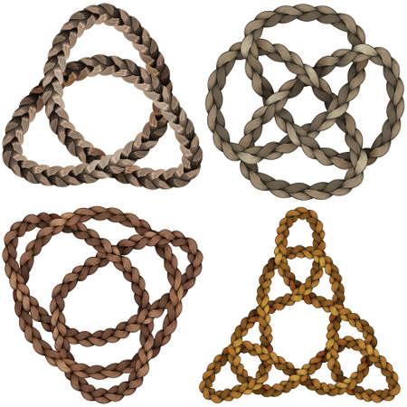 Celtic knot set Ilustrace
