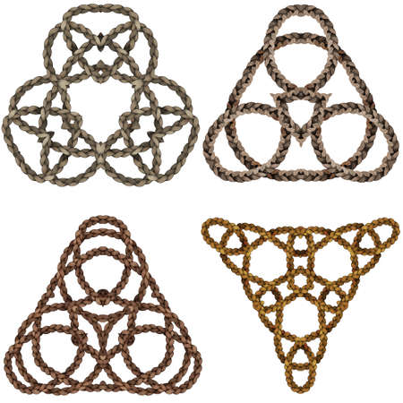 Closed wire pattern set in celtic pattern Ilustrace