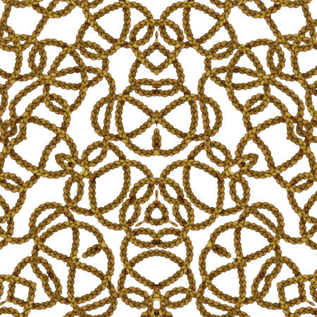 Rope pattern or linear patter in various shapes
